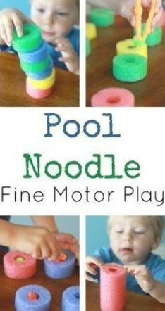 Activities For 1 Year Olds, Gross Motor Activities, Gross Motor Skills, Infant Activities, Preschool Activities, Pool Noodles, Fine Motor, Healthy Choices, Improve Yourself