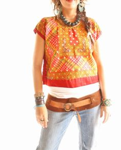 Handmade Mexican embroidered dresses and vintage treasures from Aida Coronado vintage mexican peasant embroidered top S L A heart in every piece