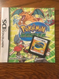 Pokemon Ranger (Nintendo DS, 2006) Authentic Cartridge and Book Nintendo Ds, My Ebay, Ranger, Pokemon, Comic Books, Comics, Cartoons, Cartoons, Comic