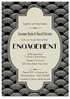 30 Best Invitations 1920s Images On Pinterest Invitations Wedding