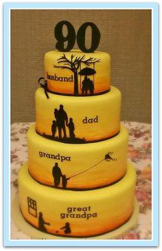 decoracion de cake 60 aos Buscar con Google 60 pap