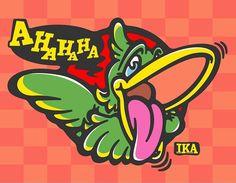 AHAHAHAlol  #加藤あつひさ#イラストレーター#イラスト#キャラクターデザイン#ロゴデザイン#鳥#オウム#インコ#笑#爆#爆笑#笑う鳥#南国の鳥#クレイジー#ちなみに lolと言うのは日本で言う笑みたいな意味のスラングなんだってさ#illustration#illustrator#characterdesign#logodesigns #originalcharacter#bird#parrot#parakeet #lol#tropical#crazy#kawaii#sogood#instagood by ekaki.ika