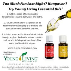 Young Living Essential Oils for a Hangover!!