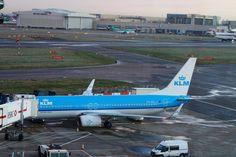 KLM Boeing 737 at London Heathrow Airport