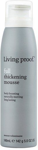 Living Proof Full Thickening Mousse. I love the Living Proof line. I have very fine hair and use the mouse for much-needed volume!