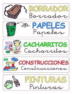 Rótulos para ordenar el aula 4