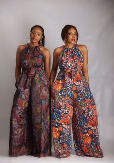 Collection of the most beautiful african ladies ankara jumpsuit styles. These are the best and most beautiful jumpsuit ankara styles you can ever have African Inspired Fashion, African Print Fashion, Africa Fashion, Fashion Prints, African Fashion Traditional, Tribal Fashion, Fashion Black, Traditional Dresses, African Print Dresses