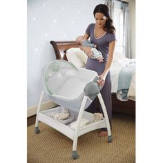 Portable Baby Bassinet and Diaper Changer Station with Canopy and Wheels Only 5 In Stock Order Today! Product Description: Dream Suite is a reversible bassinet and changer, all-in-one! Now parents can Changing Spaces, Diaper Changing Station, Large Storage Baskets, Baby Co, Baby Bassinet, Baby Cribs, Baby Needs, Baby Essentials, Baby Necessities