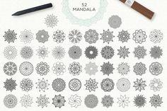 Mandala Collection [630 Elements] by Julia Dreams on @creativemarket