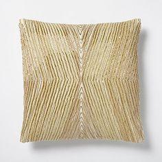 Beaded Kaleidoscope Pillow Cover - Horseradish #westelm
