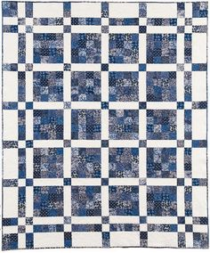 Love the simplicity.  What a great scrappy quilt!