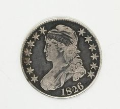 Estate Found Silver 1826 US Capped Bust $1/2 Half Dollar 50 Cent Coin