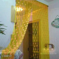 Curtains & Sheers Fashionable Net Polyester Door Curtains ( Pack Of 2 ) Material: Net Polyester Dimension ( L X W ): 7 ft x 4 ft Type: Stitched  Description: It Has 2 Pieces Of Door Curtains Work: Printed Sizes Available: 7 Feet, Free Size *Proof of Safe Delivery! Click to know on Safety Standards of Delivery Partners- https://ltl.sh/y_nZrAV3  Catalog Rating: ★3.9 (6478)  Catalog Name: Fashionable Net Polyester Door Curtains Combo Vol 1 CatalogID_466899 C54-SC1116 Code: 842-3368167-