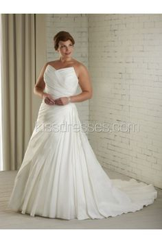 Charming Detachable Off-The-Shoulder Ruffles Plus Size Wedding Dress