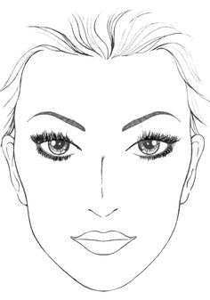 Blank Mac Face Charts Makeup Anarchist Pictures. This is going to ...