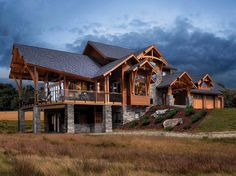 Timber Frame Timber Frame Home Exteriors | New Energy Works
