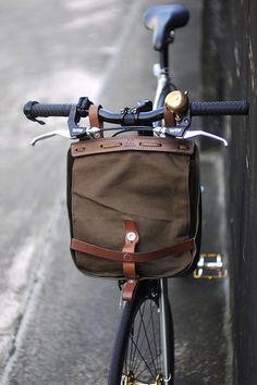 vintage swiss military bike bag