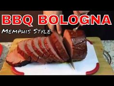 (On a Grilled Bun with Coleslaw) Smoked Bologna Recipe, Bologna Recipes, Barbecue Recipes, Grilling Recipes, Carp Recipes, Memphis Bbq, Dinner Sandwiches, Food And Thought, Bologna