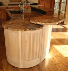 Kitchen Island 2 Tier construction detail 2-tier kitchen island with electrical in bump