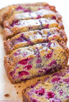 The Best Raspberry Bread – There's almost more raspberries than bread! Super… The Best Raspberry Bread – There's almost more raspberries than bread! Super soft and just bursting with juicy berries! So delishhhh! Quick Bread Recipes, My Recipes, Sweet Recipes, Dessert Recipes, Cooking Recipes, Favorite Recipes, Brunch Recipes, Muffin Recipes, Potato Recipes