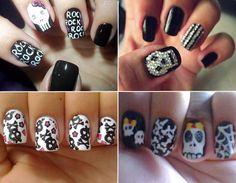 skull nails.