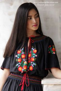 Coming SOON at batik amarillis webstore www.batikamarillis-shop.com Batik Amarillis's folklore 2014 vol 2 Aniko dress it is lovely smocking and embroidery Hungarian Traditional dress ..enjoy our beautiful ethnic inspired collection and spectacular Hungarian folk art embroidery..