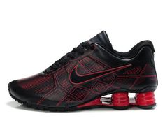 best service 292c4 5d7a4 NIKE SHOX TURBO+ 12 LEATHER MEN S RUNNING SHOE BLACK RED SALE  80.64 Black  Running Shoes