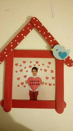 Easy Popsicle Craft Ideas For Your Kids This Christmas 27 Popsicle Stick Crafts, Popsicle Sticks, Craft Stick Crafts, Preschool Crafts, Fun Crafts, Diy And Crafts, Craft Ideas, Ideas Fáciles, Valentine's Day Crafts For Kids