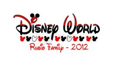 Disney World Vacation Family Name Iron on transfer for by bafoodle, $3.25