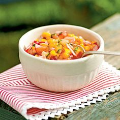 Nectarine and Radish Salsa No cook condiment for grilled chicken, pork or fish. or top grilled bread or toasted tortilla wedge/Cooking Light