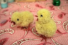 Follow this #craft #tutorial to make your own cute pom pom #Easter chicks!