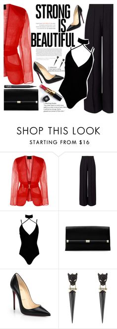 """Richie Campbell - Do You Know Wrong"" by anarita11 ❤ liked on Polyvore featuring Miss Selfridge, Boohoo, Chanel, Diane Von Furstenberg, Christian Louboutin, Alexis Bittar and NARS Cosmetics"