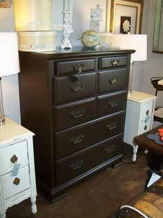 This Dresser Is Painted In A Neutral Chocolate Brown And Work Well For Children As S