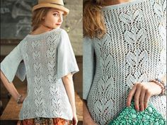 #18 Butterfly Sleeve Top, Vogue Knitting Spring/Summer 2013