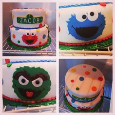Sesame Street Cake - Pink Sugar Cupcakes Sesame Street Cake, Sugar Cake, Pink Sugar, Birthday Parties, Cupcakes, Party Ideas, Cookies, Desserts, Food