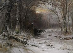 Louis Apol (1850»1936) Winter in the Haagse Bos