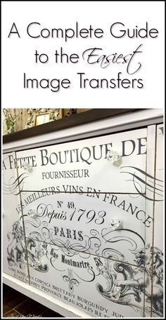 If you have ever been curious about image transfers either for your painted furniture projects or any DIY projects, here is a complete guide to the easiest image transfers and where to find them . IOD image transfers If you have ever been curious