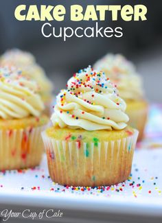Cake Batter Cupcakes... seriously AMAZING