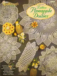 LATTICE PINEAPPLE DOILIES CROCHET PATTERN BOOK / LEAFLET