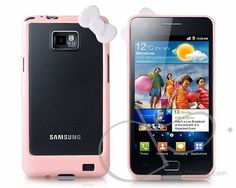Bow Series Samsung Galaxy S2 Bumper Cases i9100 - Pink  #galaxys2  http://www.dsstyles.com/samsung-galaxy-s2-cases/bow-series-samsung-galaxy-s2-bumper-cases-i9100-pink.html?src=pinterest