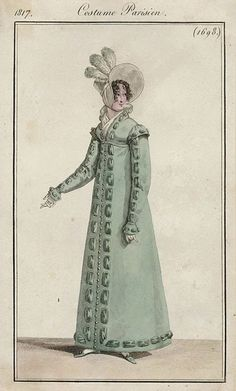 Regency Pelisse - For Lady Catherine. Lower the waistline and make in a jewel tone color. Love the trim!
