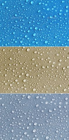 #Waters Drops Textures Pack in 3 Different Colors - #Backgrounds Graphics