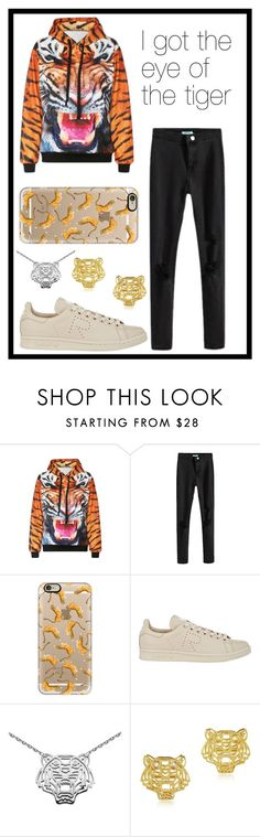 """""""#251 tigers"""" by xjet1998x ❤ liked on Polyvore featuring Casetify, Y-3, Kenzo, women's clothing, women, female, woman, misses, juniors and bhalo"""