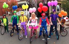 Super Mario Crew | Kostüm-Idee für Gruppen zu Karneval, Halloween & Fasching