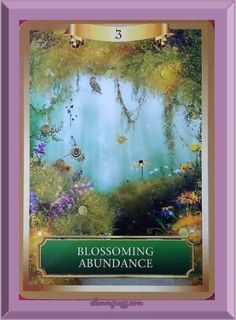Daily Oracle: ~ Blossoming Abundance from Energy Oracle cards deck by Sandra Anne Taylor