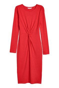 Klänning med knytdetalj - Röd - DAM | H&M SE 1