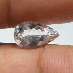 2.4 Carat 13.6x8.1 mm Excellent Cut Pear Shape Goshenite Aquamarine Cut Stone  #Unbranded