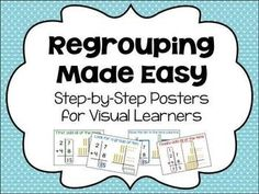 How to Regroup - step by step - posters for  addition and subtraction
