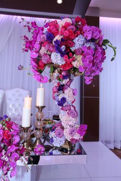 Anton and Lilit's Wedding, purples and pinks