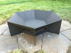 Heavy gauge hexagonal corten steel fire pit. by SpireMetalworks